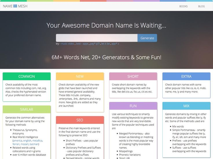 #domain name #search made fun and easy - namemesh.com