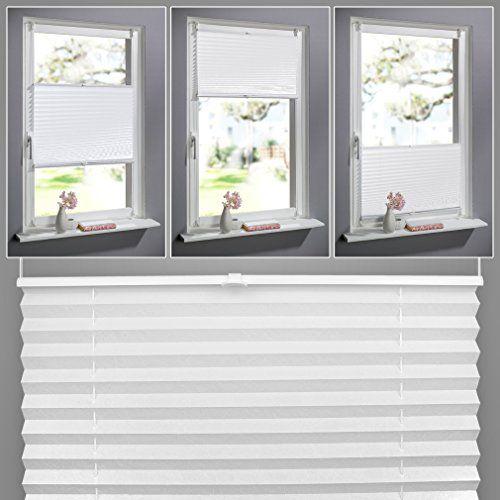 SHINY HOME Faltstore Verspannt Plissee Fensterfl Gel Easyfix Fensterrollo Mit Klemmtr Ger Ohne Jalousien PlisseeBohrenGardinen