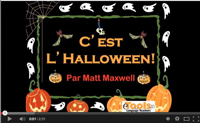 Fun French song for Halloween.