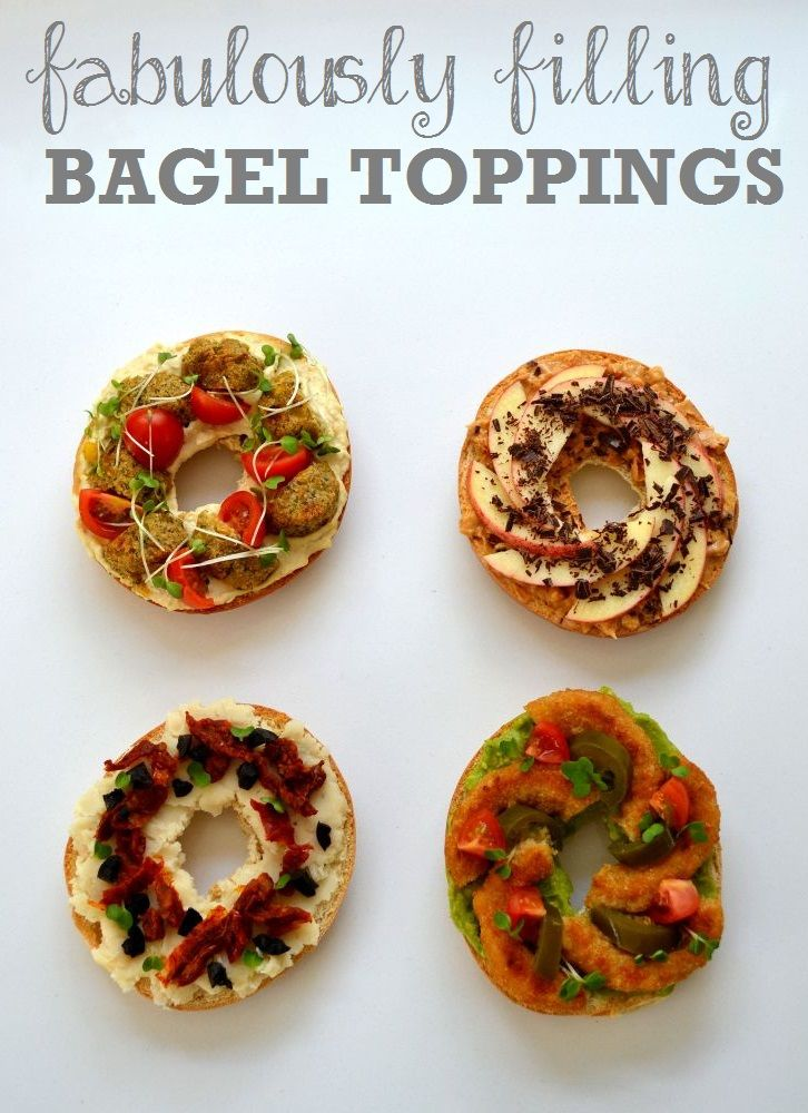 Recipe: Four Fabulosly Filling Bagel Toppings http://www.thevegspace.co.uk/recipe-four-fabulously-filling-bagel-toppings/ Vegan Bagels | Vegetarian Bagels