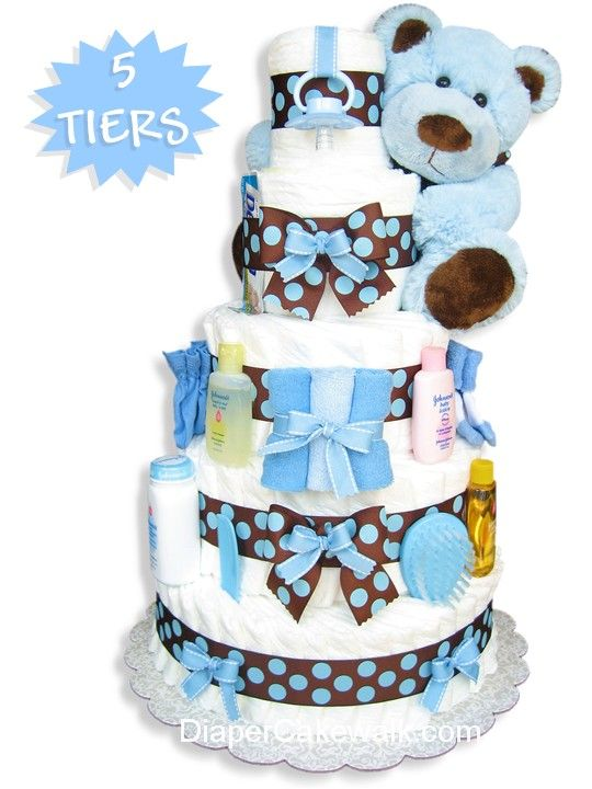 diaper cake instructions cakes for boys blue amp brown 3533