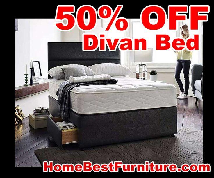 50 PERCENT OFF DISCOUNT Myers Supreme Comfort 1000 Divan Beds with storage