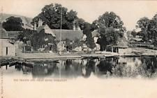 The Thames Swan Hotel Pub Streatley unused Early undivided back pc  Tuck
