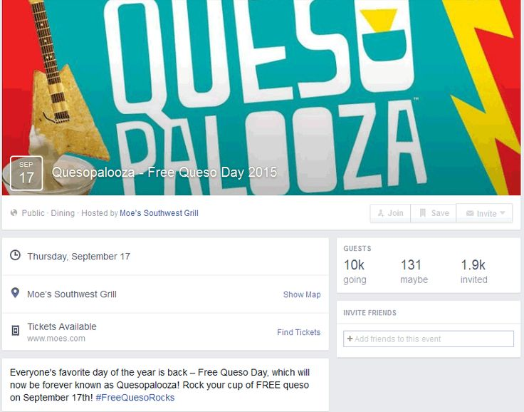 Pinned August 31st: Free queso the 17th at #Moes Southwest Grill restaurants #coupon via The #Coupons App