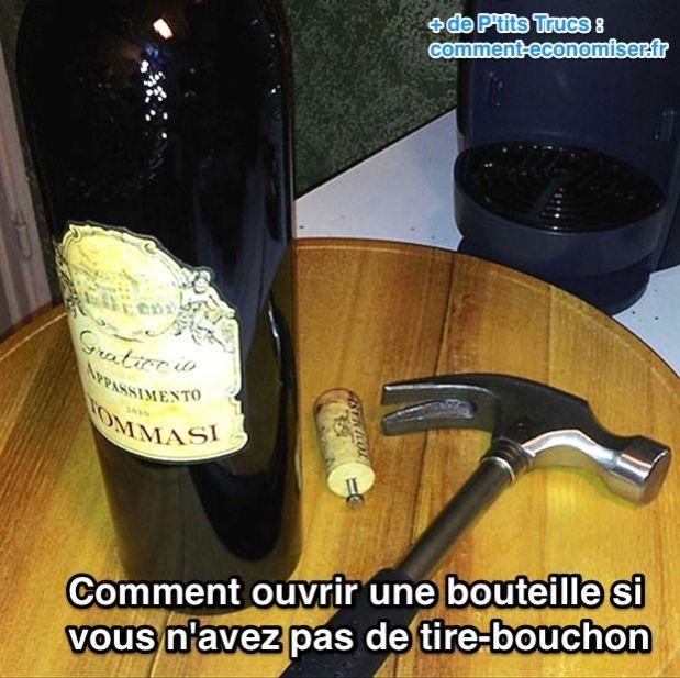 Comment enlever un bouchon d'une bouteille de vin sans tire bouchon