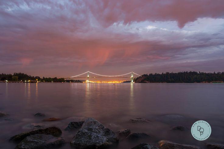 Slow shutters in West Vancouver #BridgeLights #danoldfieldphotography