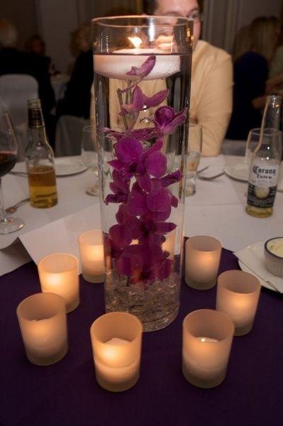 centros de mesa con agua para matrimonio
