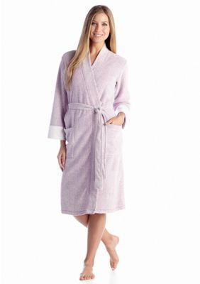 N Natori Royal Purple Brushed Terry Robe - PC4016