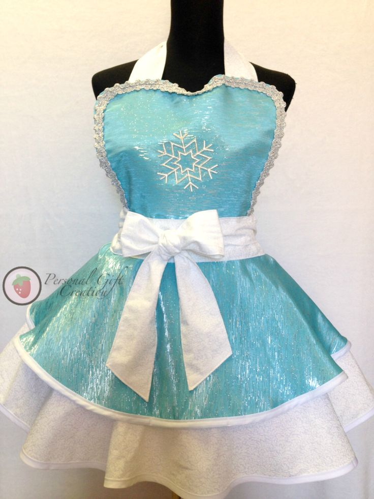 Frozen princess Elsa Apron, Elsa Dress/Apron, Retro Apron, Circle Apron by PersonalGCreation on Etsy https://www.etsy.com/listing/217222257/frozen-princess-elsa-apron-elsa