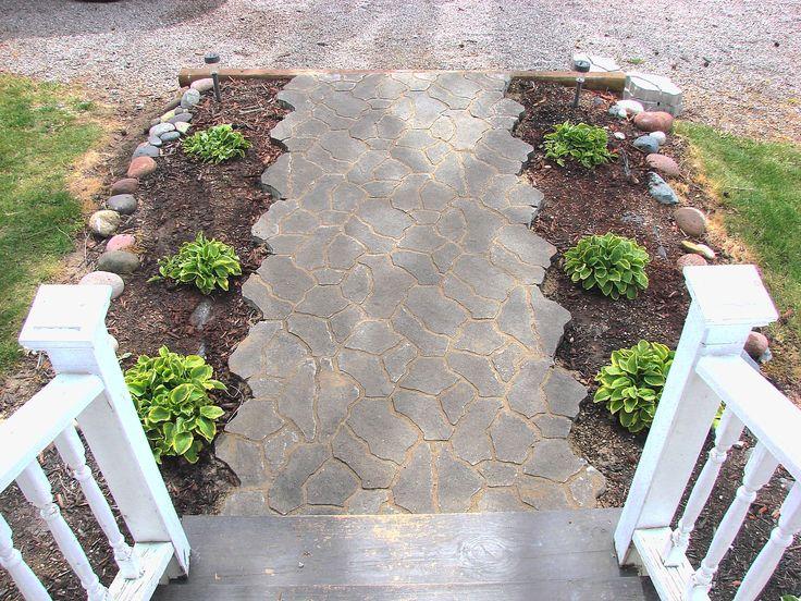 inexpensive sidewalk ideas diy sidewalk walkway design ideas on a budget 11 outdoors - Patio Walkway Ideas