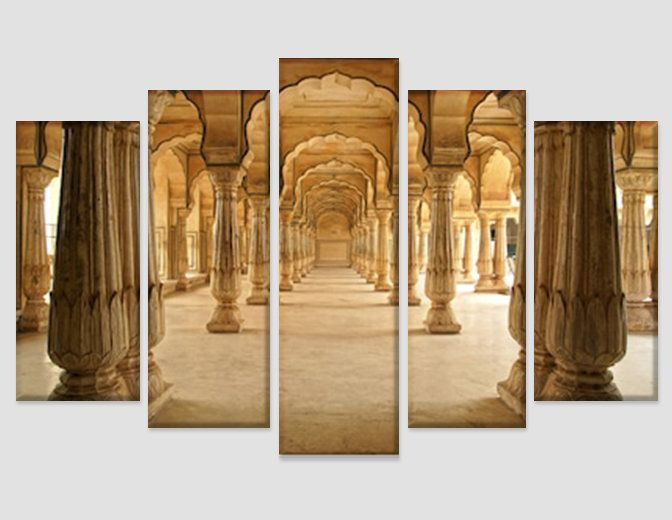 Amber Fort In Jaipur India Canvas Art Ancient Indian Wall Art Etsy Indian Wall Art Etsy Wall Art Canvas Art