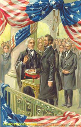 ILLUSTRATION - Inauguration of PRESIDENT ABRAHAM LINCOLN.  -- March 4,1861