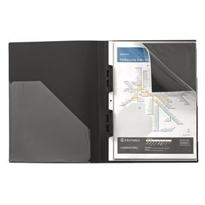 J.Burrows Display Book A3 20 Pocket Refillable Black