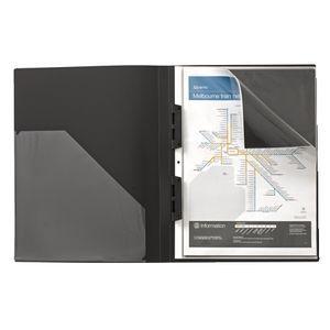 J.Burrows Display Book A3 20 Pocket Refillable Black