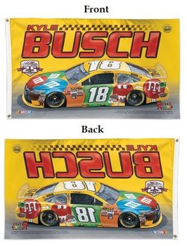 Kyle Bush Joe Gibbs Racing 25 Years 3x5 Flag
