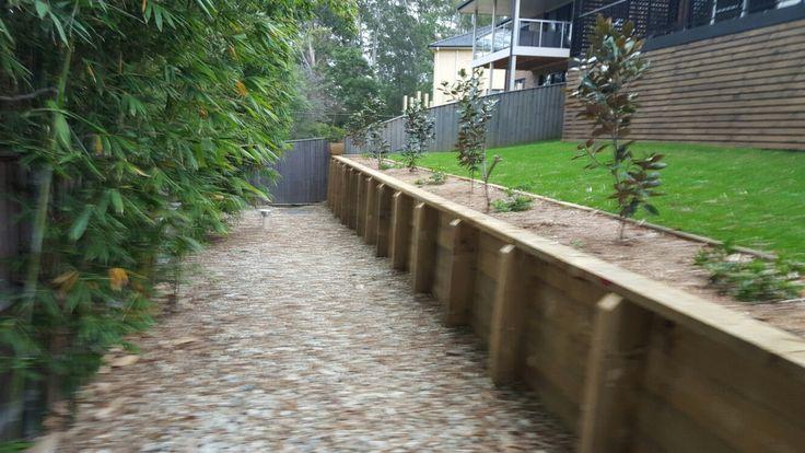landpro retaining wall timber sleepers