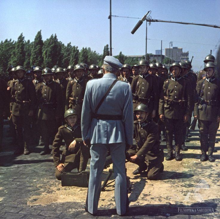 "Marshal Józef Piłsudski confronts the troops of President's Wojciechowski's democratically-elected government - ""The Coup d'Etat"" / ""Zamach Stanu"" (1981)"
