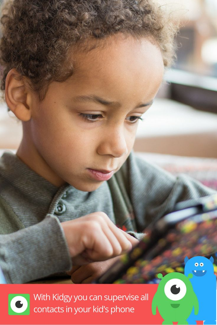 With Kidgy app you can supervise all contact list names, numbers and emails in your kid's phone. Pay more attention to those whom you doesn't know personally.