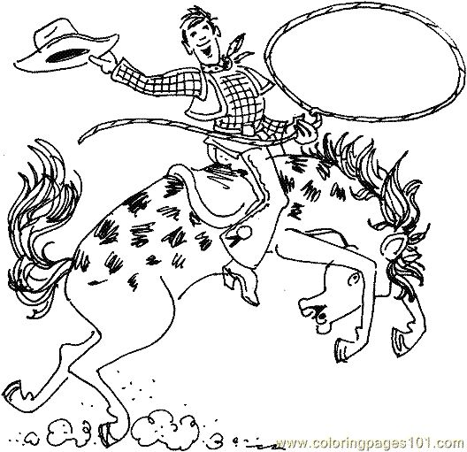 cowboy coloring page 10 coloring page free cowboys coloring pages