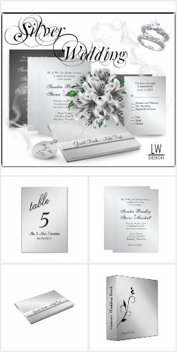 Silver Wedding Invitation Suite now 50% off