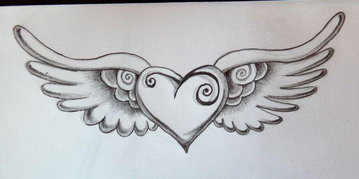 tatuaje de corazon a lapiz                                                                                                                                                      Más