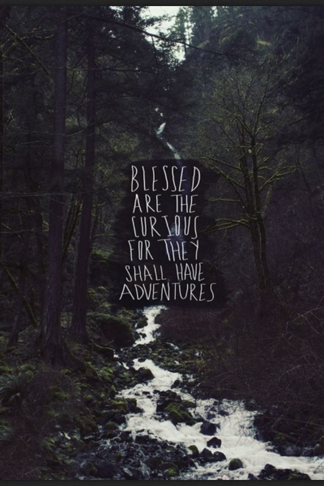 Blessed are the curious for they shall have adventures! - source unknown #Quotation #Curiosity #Adventure