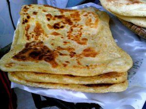 Moroccan-Msemen-Fresh-Marrakesh. Flat bread from Marrakech.