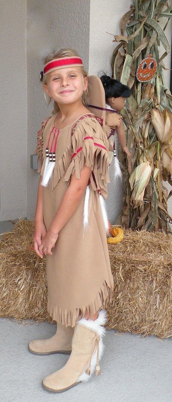 Native American Girl Indian pretend dress up fun Costume for children sizes thro...