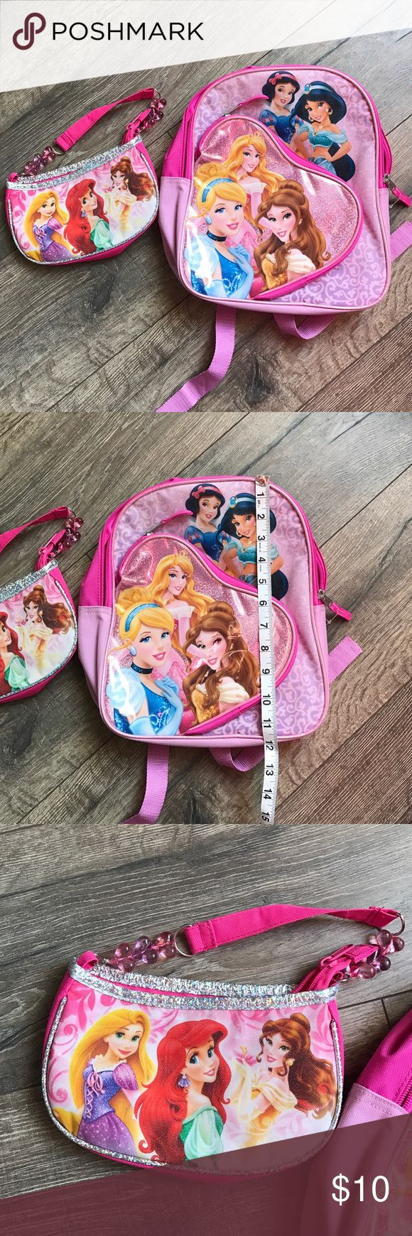 Disney princess backpack and purse set Never used Disney princess backpack and purse set. Accessories Bags