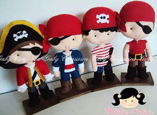 Piratas feltro