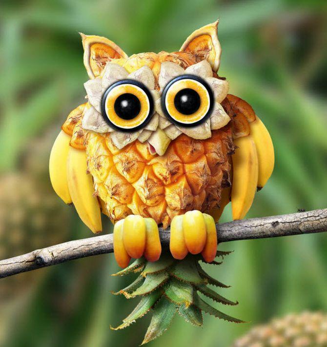 創意設計 【動物世界之水果雕刻】你捨得把它吃? 尤其是第13張的金魚我才喜歡   Giga Circle