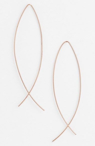 Simple Pull Through Earrings I Saw Some At Express Valley Fair Gold And Or Silver Want It Pinterest Rose Plates Wire