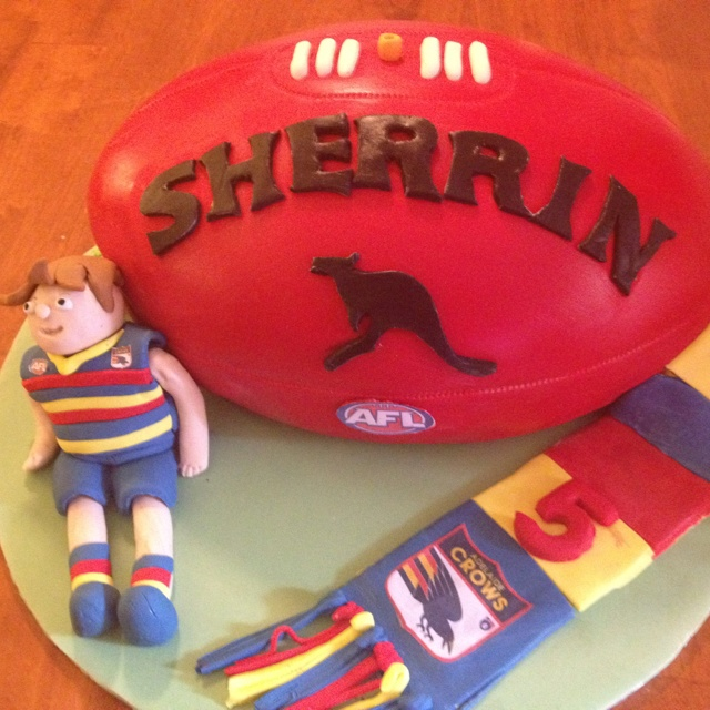 Adelaide Crows football cake.