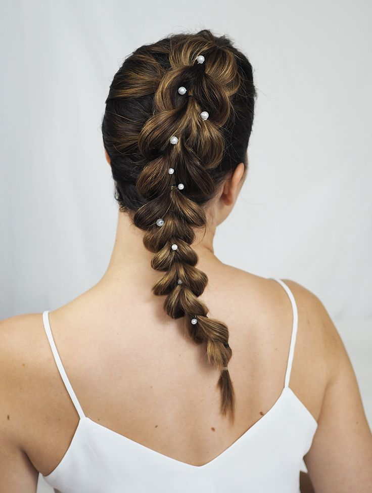 Braid with pearls - NUDE | Lily.fi
