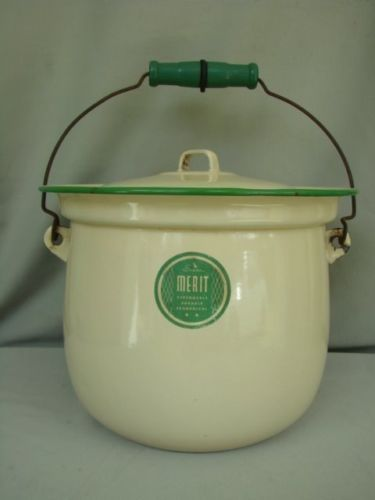 vintage-Sears-Cream-Green-Granite-ware-Enamel-ware-Chamber-Pot-Slop-Jar-Bucket