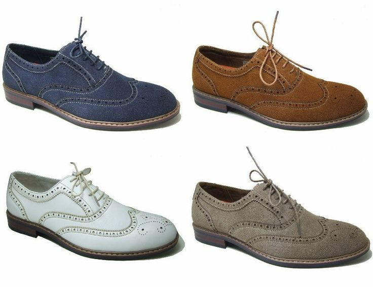 Mens Dress Shoes Lace up Oxfords Wing Tip Faux Suede Upper Leather Lined  New Box