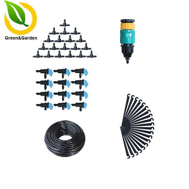 10m 4/7mm Pressure Compensating Emitter Drip Irrigation System Micro Irrigation Systems Watering Kits Garden Supplies