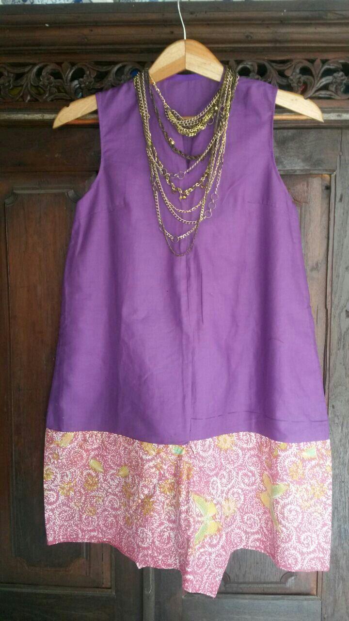 Linen and batik dress