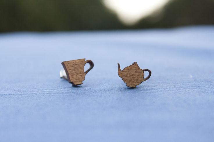 Teaset studs (recycled venetian blinds) - $15