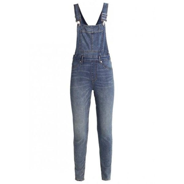 Cheap Monday Dungaree Spray Jeans ($74) ❤ liked on Polyvore featuring jeans, cheap monday, white jeans, cheap monday jeans and dungaree jeans