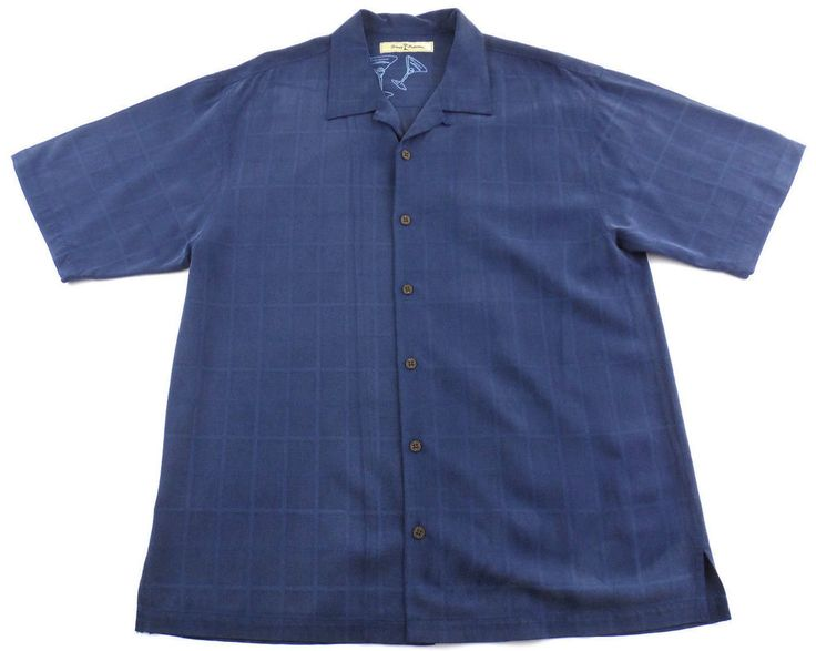 Tommy bahama 100 silk hawaiian button up shirt size large for Blue button up work shirt
