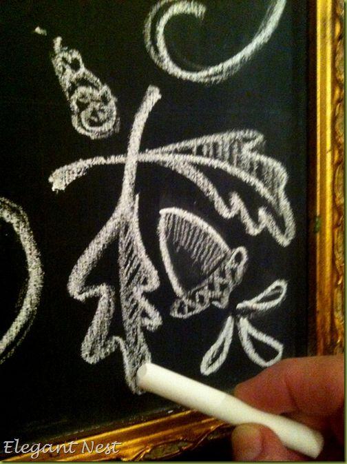chalkboard fall details...