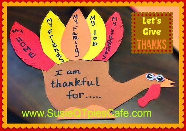 november craft ideas let s give thanks turkey thanksgiving activity diy 2559