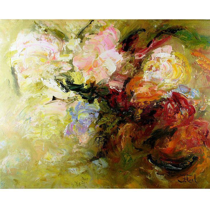 Bloemenschilderij Mixed Flowers Impressionisme John Frel