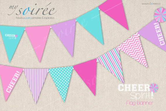 Cheerleader Printable FLAG BANNER