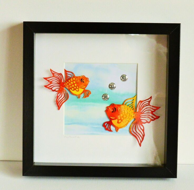 Encaustic wax painted goldfish by Moo Doodle https://www.facebook.com/moodoodle15
