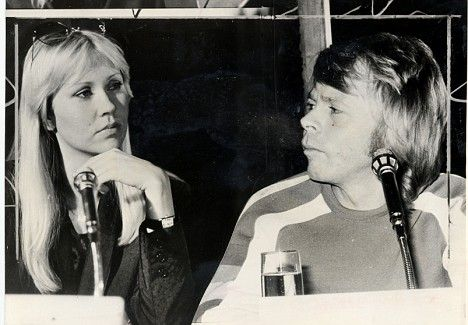 Agnetha and Bjorn from ABBA