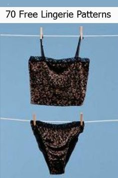 70 Free Lingerie Patterns