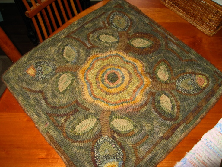 how to make a river rock rug