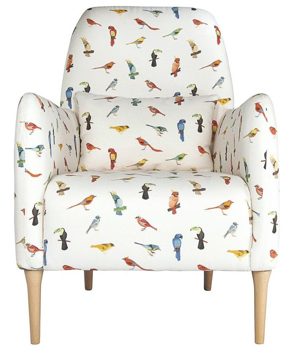 fauteuil daborn motif brazil birds pour habitat claire leina pinterest. Black Bedroom Furniture Sets. Home Design Ideas